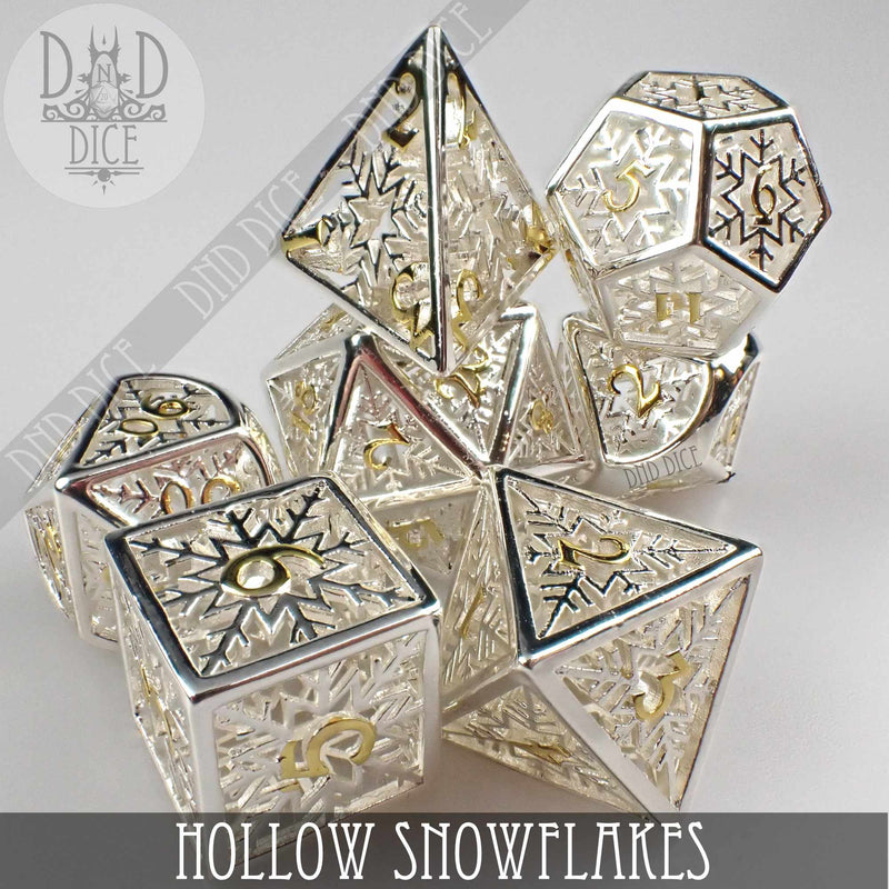 Snowflakes Hollow Metal Dice Set