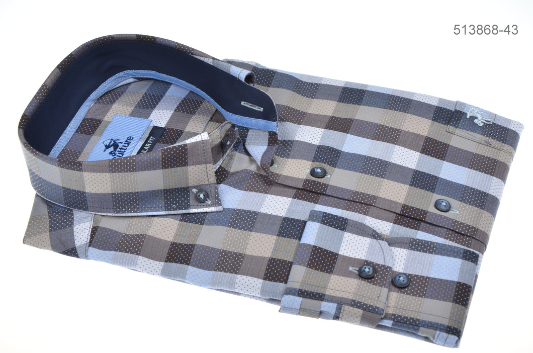 Culture Cotten Shirt Small Check Pattern R