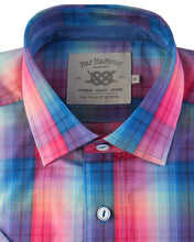 Load image into Gallery viewer, Bar Harbour Rainbow Short Sleeve Check Shirt K