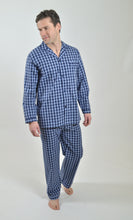 Load image into Gallery viewer, Rael Brook Navy and White Check Pyjamas R
