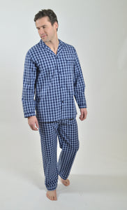 Rael Brook Navy and White Check Pyjamas R