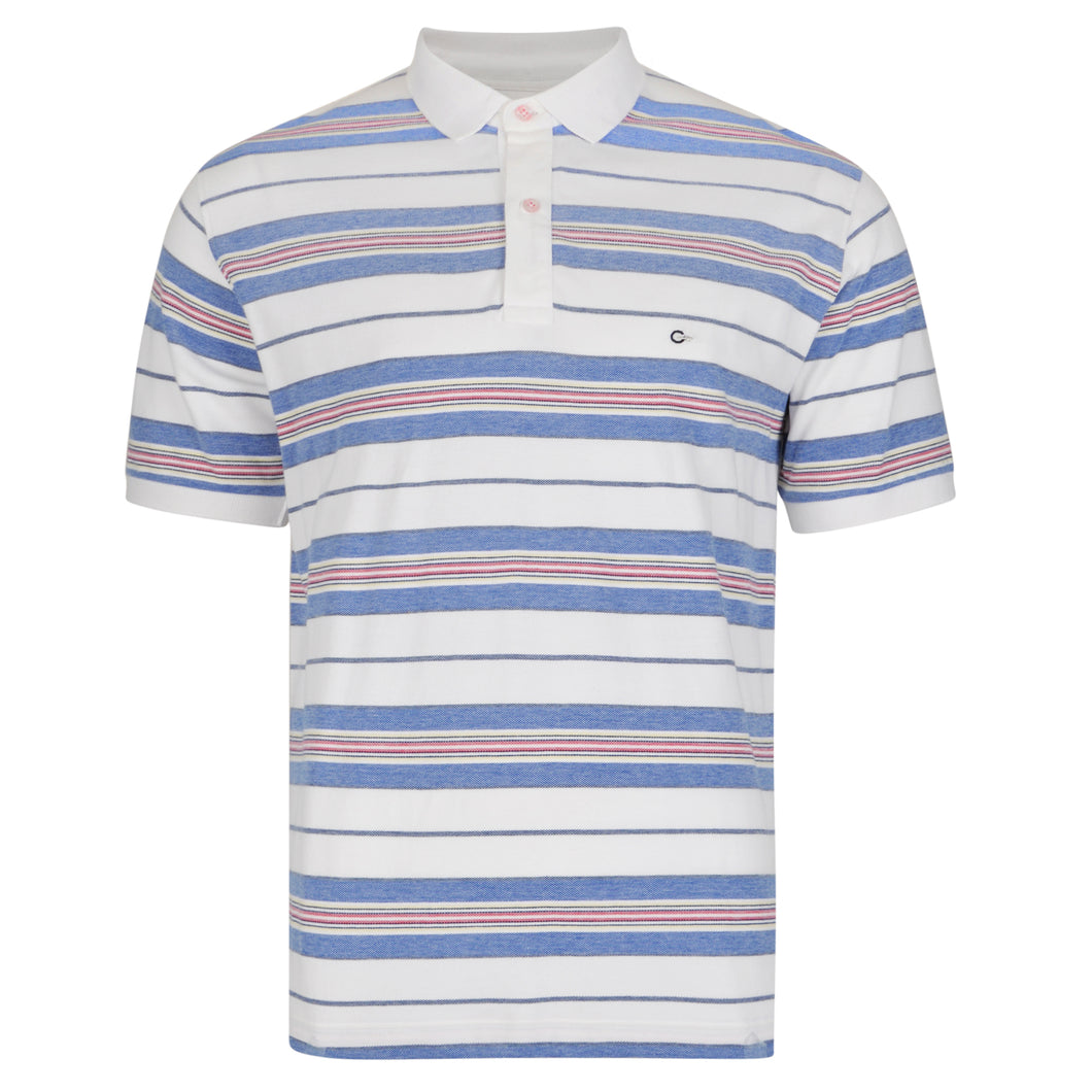 Peter Gribby Striped Pique Polo Shirt  K