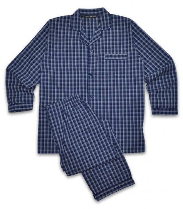 Rael Brook Blue Check Pyjamas R