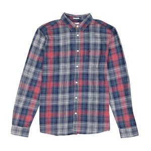 Wrangler Button Down Red and Indigo Check Shirt R