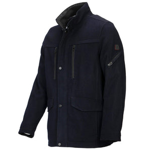 Cabano Navy Wool Coat R