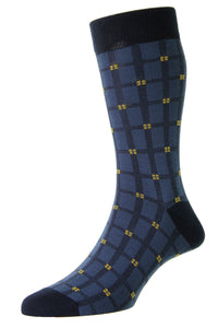Hj Elmfield Windowpane Socks R