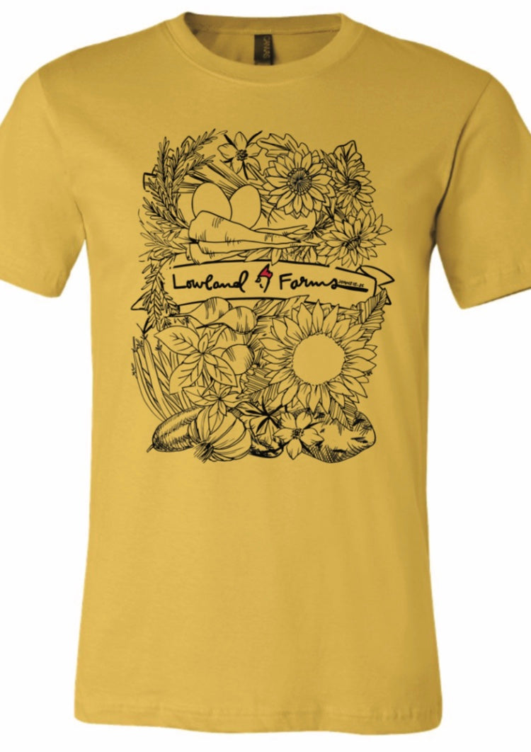 Lowland Farms Veggie/ Flower T-Shirt