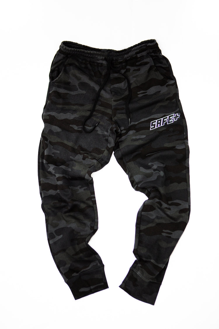 Black Camo 3M / Reflective SAFE Logo Sweatpants Product Shot