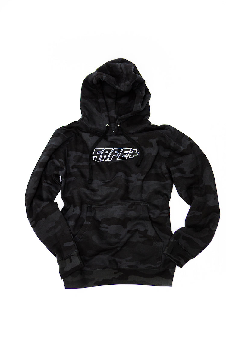 Black Camo 3M / Reflective SAFE Logo Hoody Product Shot