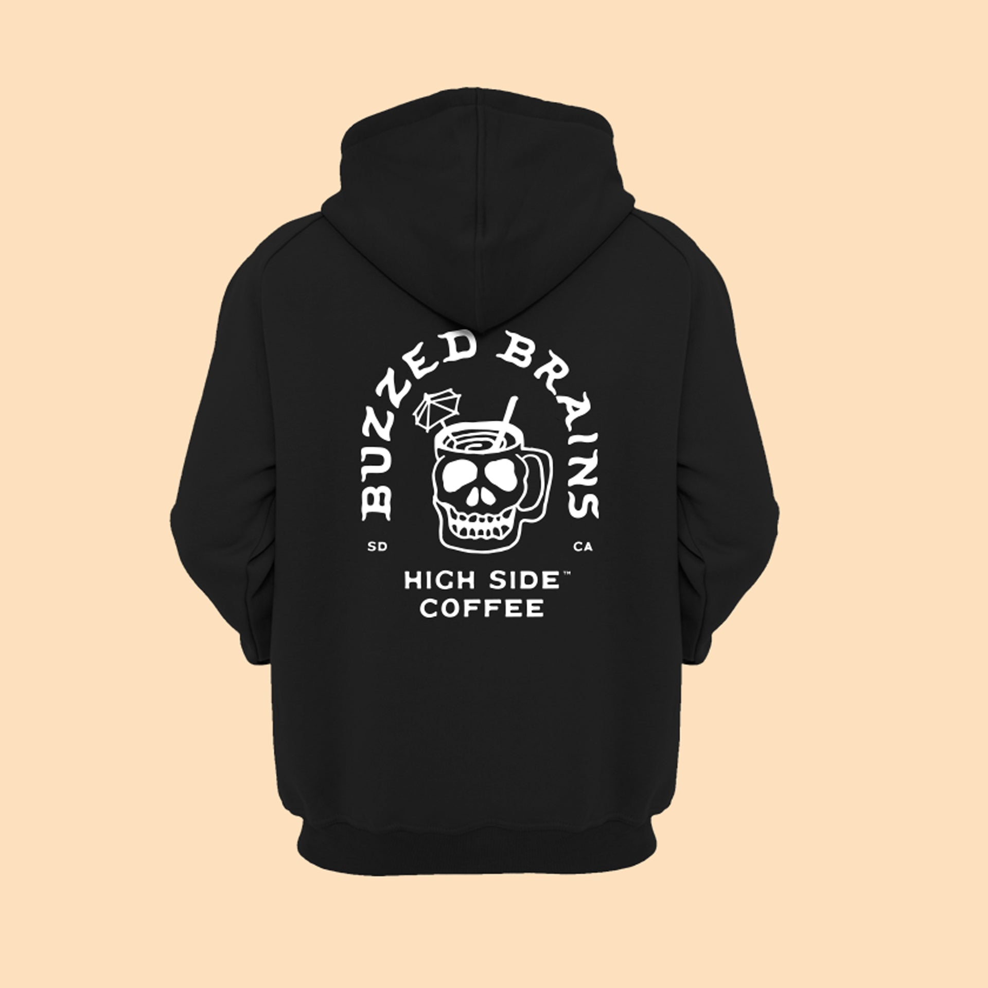 Buzzed Brains Hoodie - High Side Coffee