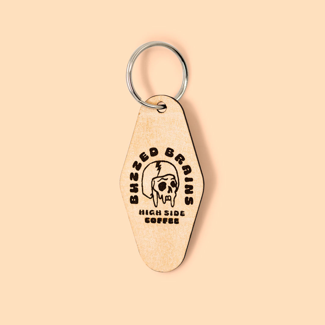 Buzzed Brains Keychain - High Side Coffee