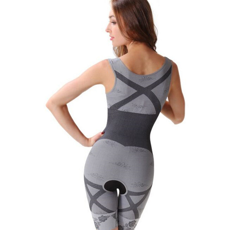Bamboo charcoal magic corset postpartum tummy hips corset body seamless body shaping underwear