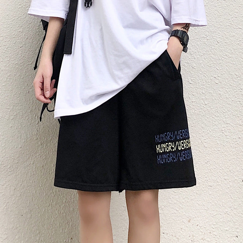 Five-point pants loose shorts women sports casual pants sportwear