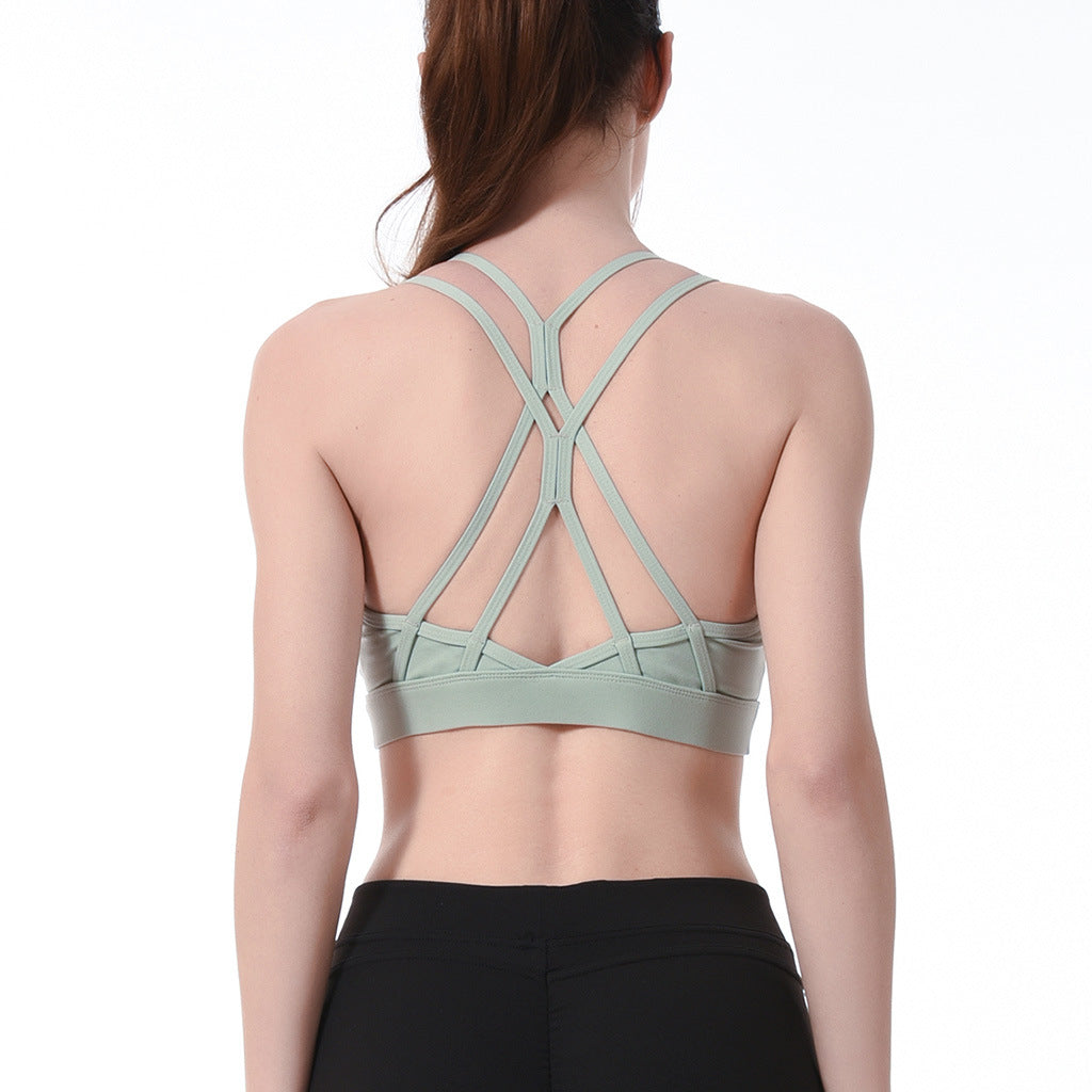 Sports quick-drying underwear female yoga fitness sports beautiful back underwear thin shoulder straps sexy sports bra