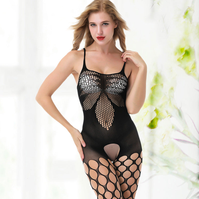 Sexy lingerie female perspective open file temptation one-piece suspender bodystockings