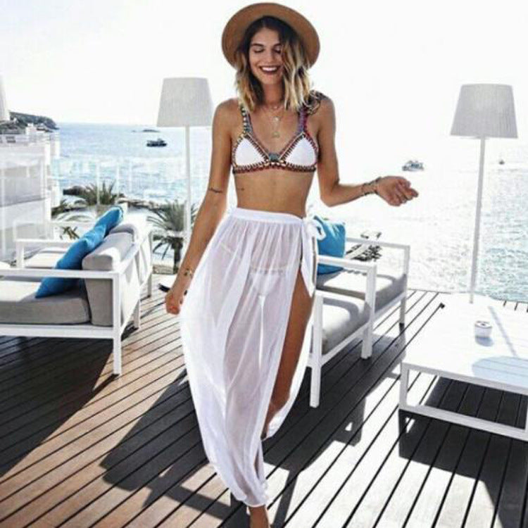 Sexy beach seaside vacation straps skirt