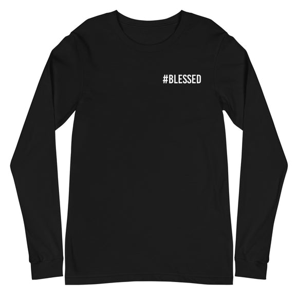 '#Blessed' Long Sleeve Tee