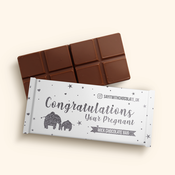 Congratulations Your Pregnant Milk Chocolate Bar 40g