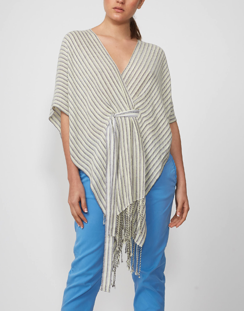 Striped Short Cape
