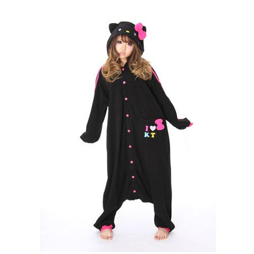 Hello Kitty™ Zwart Kigurumi