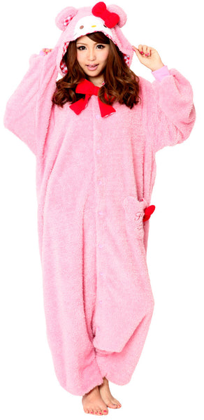 Hello Kitty™ Kigurumi Teddybeer Roze