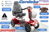 Shoprider Cordoba from Roma Medical 8mph Large Bariatric Mobility Scooter in Red