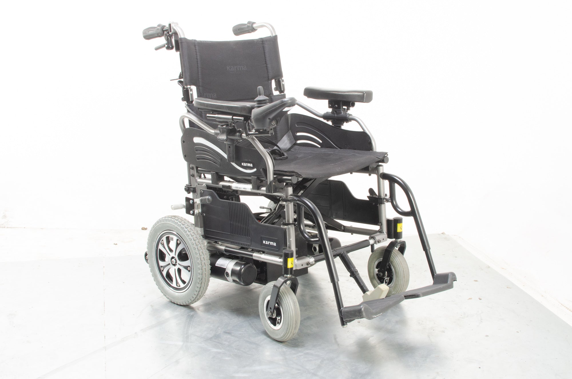 Karma Falcon Transportable Electric Wheelchair Powerchair Attendant Option