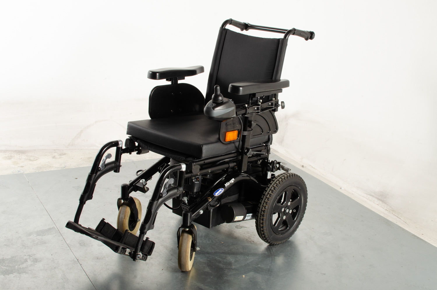 "2009 Invacare Mirage 4mph Transportable Electric Wheelchair Powerchair 18"" Black"