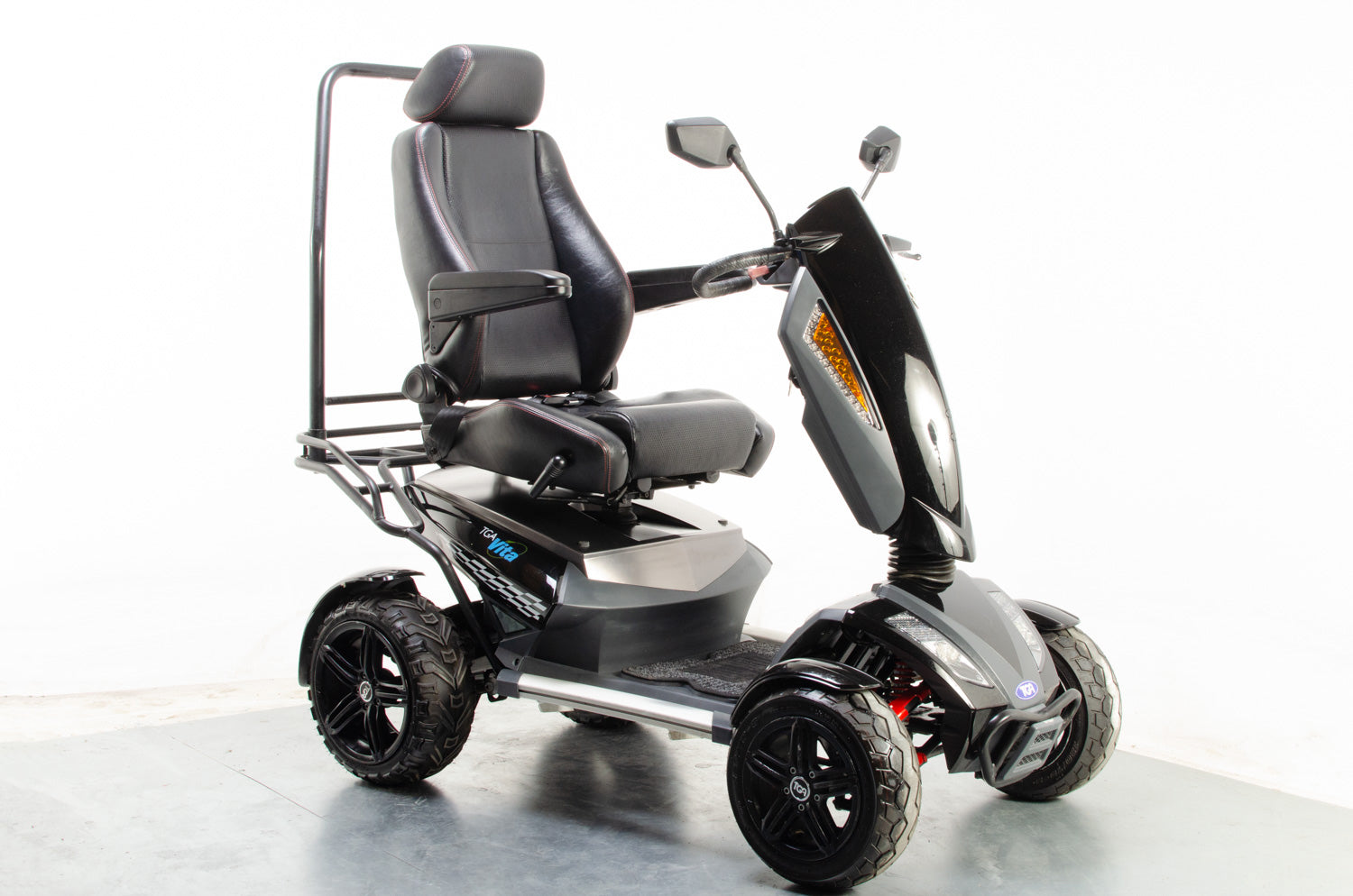 2015 TGA Vita X 8mph Ultimate Large All Terrain Mobility Scooter in Black