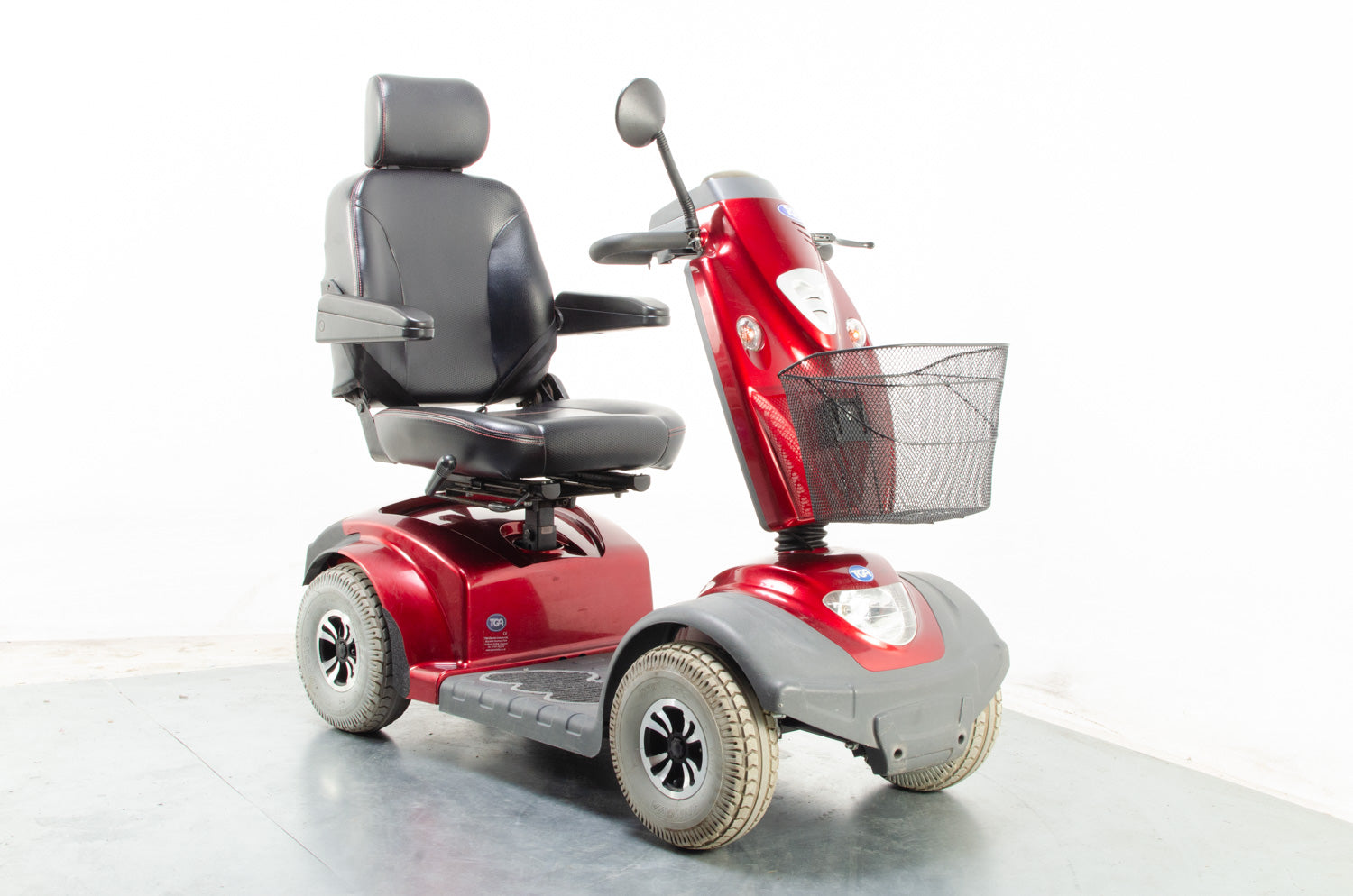 2014 TGA Mystere 8mph Mid Size Mobility Scooter in Red