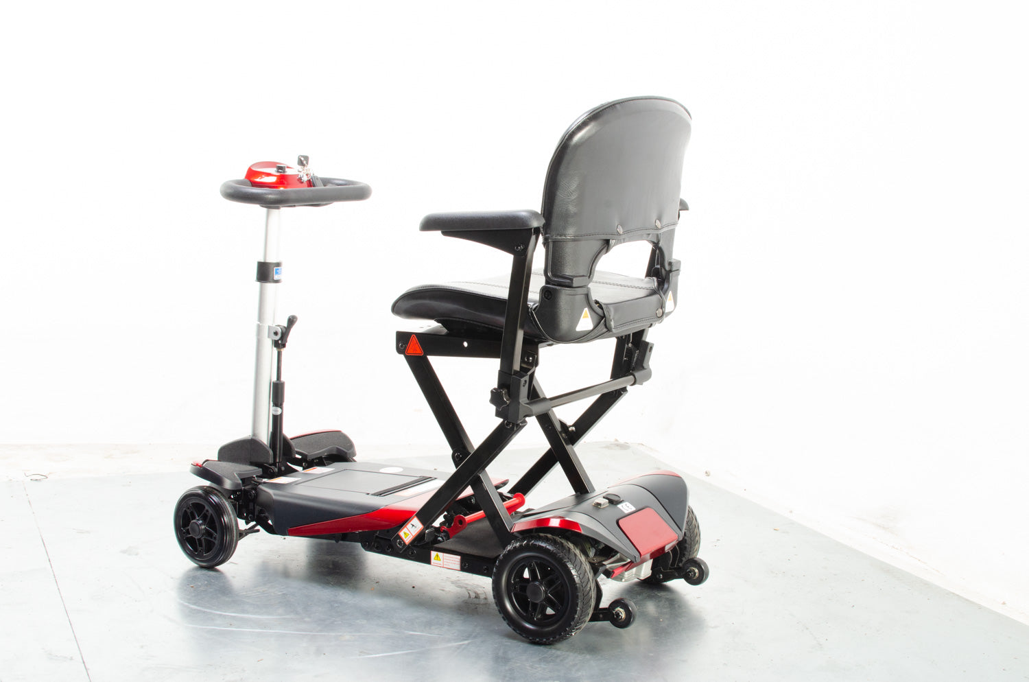 2018 Monarch Smarti 4mph Remote Auto Folding Mobility Scooter in Red