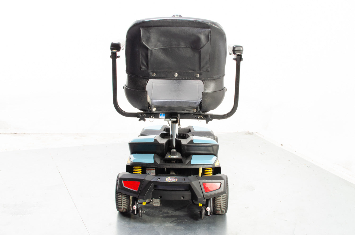 2017 Pride Apex Rapid 4mph Small Transportable Mobility Boot Scooter Baby Blue