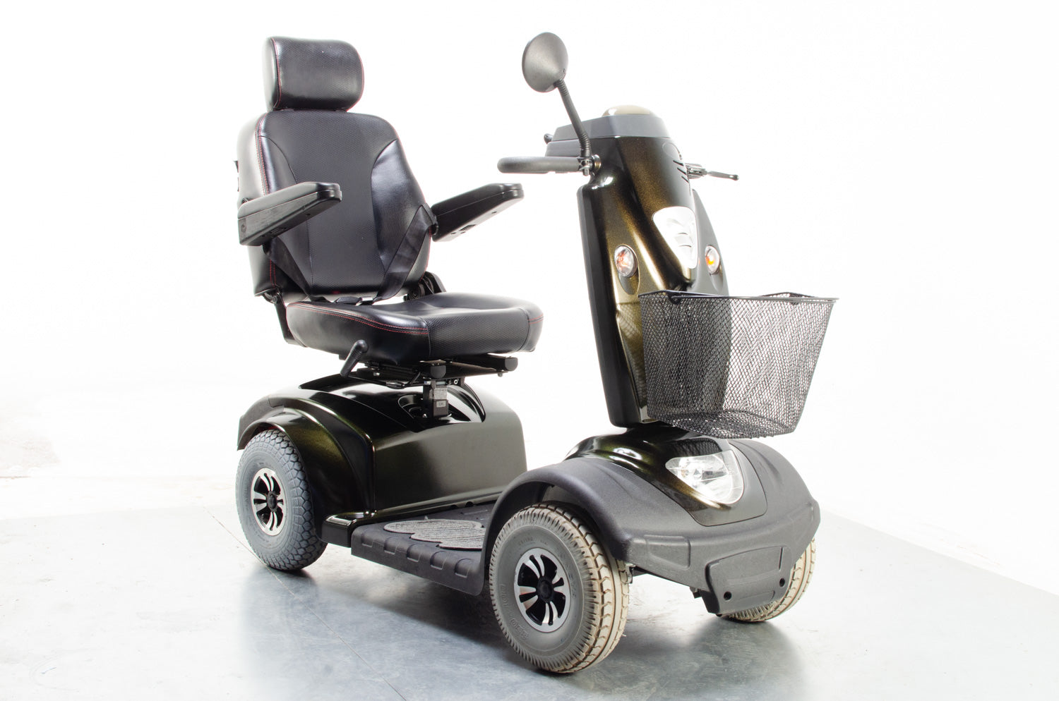 2015 TGA Mystere 8mph Mid Size Mobility Scooter Green Gold Chameleon