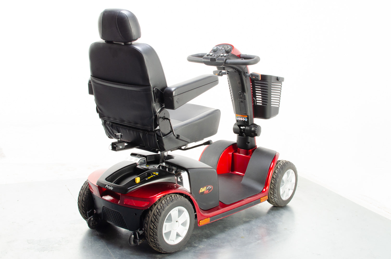 Pride Colt Plus 4mph Mid Size Transportable Mobility Boot Scooter in Red