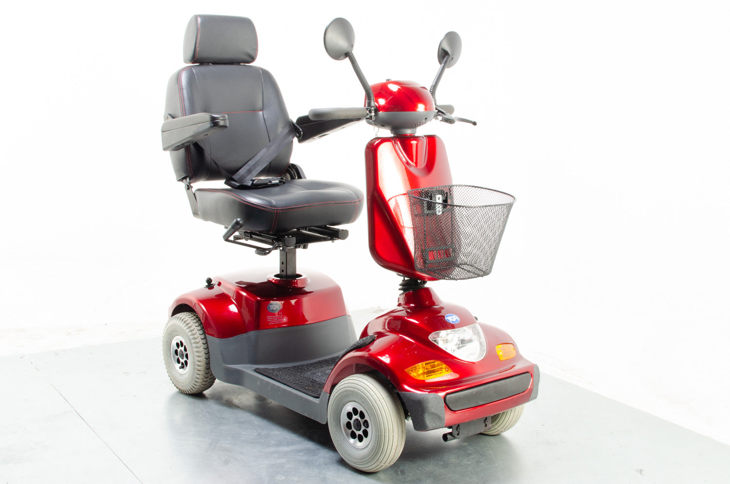 2014 TGA Sonet 6mph Mid Size Mobility Scooter in Red