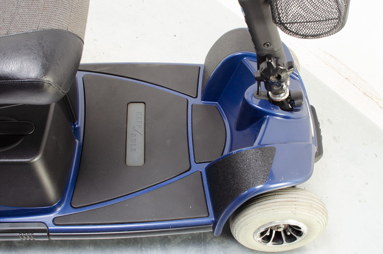 2010 Pride Pico Electric Mobility Scooter Used Second Hand 4mph Transportable Compact Boot Blue
