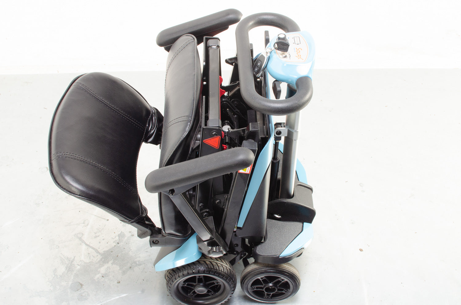 2018 Monarch Smarti 4mph Remote Auto Folding Mobility Scooter Baby Blue