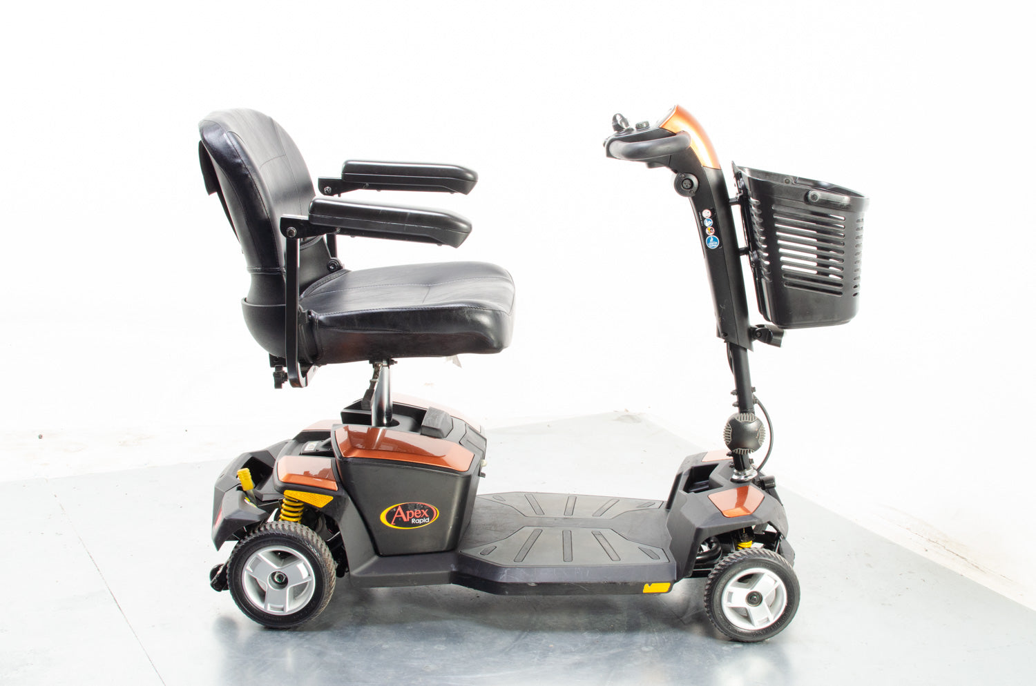 2018 Pride Apex Rapid 4mph Small Boot Mobility Scooter 18/22Ah