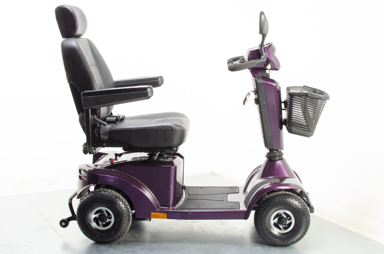 2018 Sunrise Medical Sterling S425 Electric Mobility Scooter Used Second Hand 8mph Mid Size Holographic Purple
