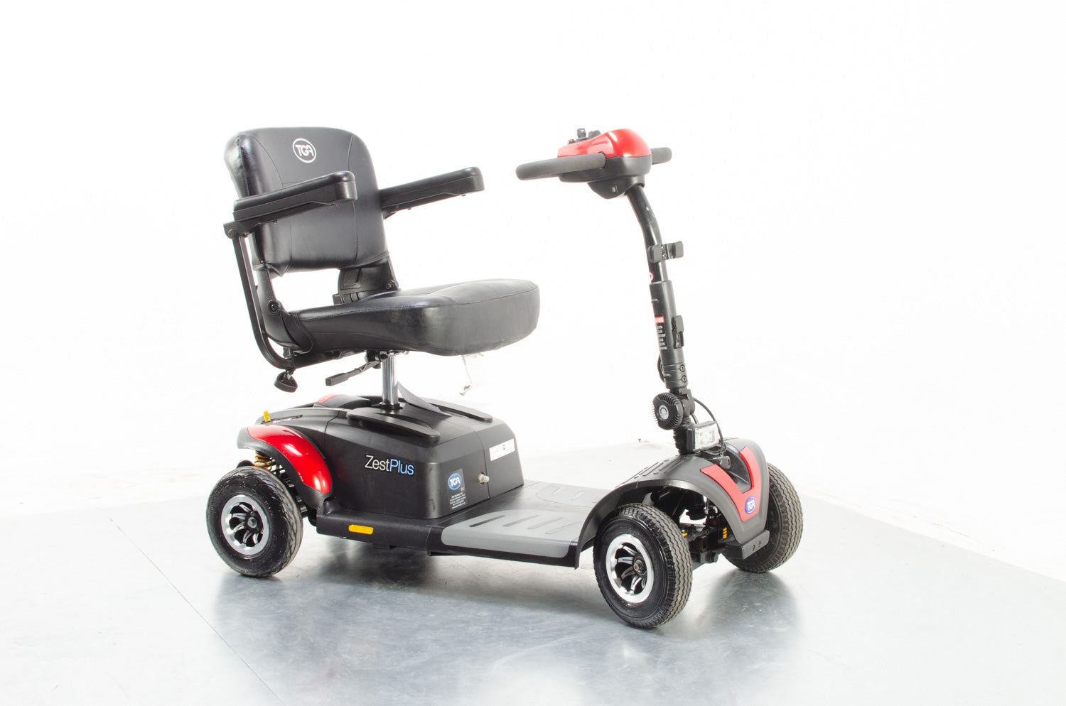 2018 TGA Zest Plus 4mph Electric Mobility Scooter Used Second Hand Transportable Boot Pneumatic Tyres Red