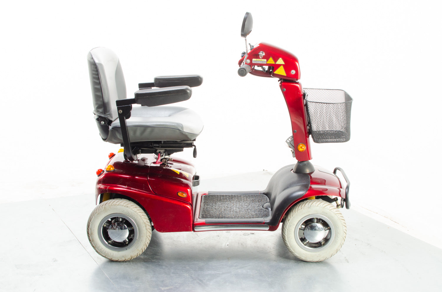 2010 Rascal 650 6mph Electric Mobility Scooter Second Hand Mid Size Red