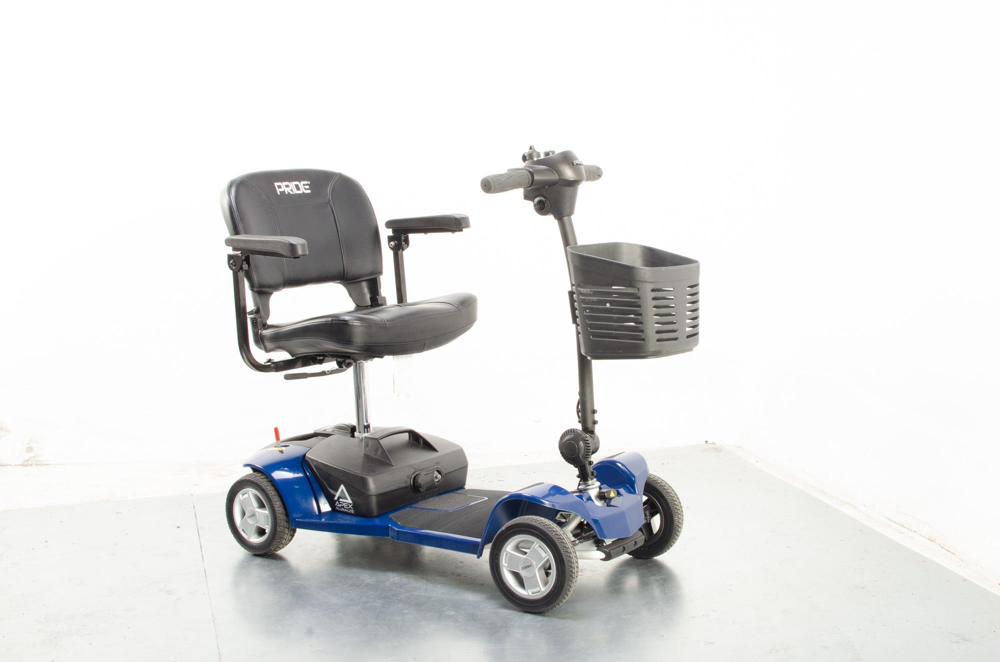 2020 Pride Apex Alumalite 4mph Electric Mobility Boot Scooter Aluminium Lithium Battery Blue