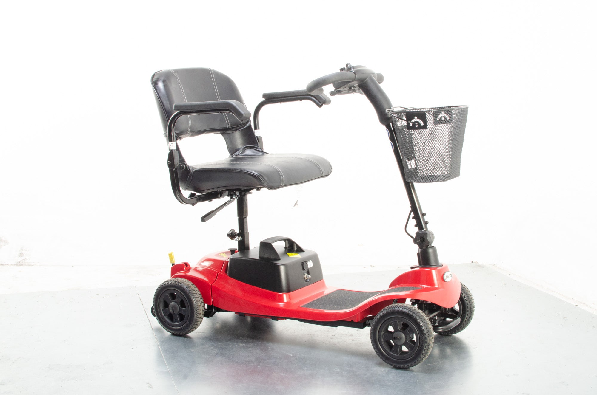 2018 KR Liberty from One-Rehab 4mph Small Electric Mobility Boot Scooter in Red
