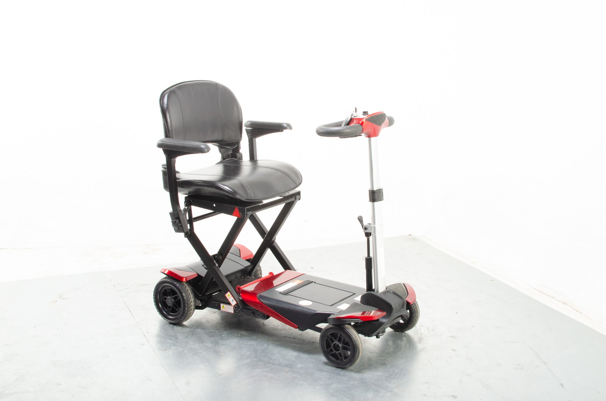 Monarch Smarti Used Remote Automatic Folding Mobility Scooter Travel Red