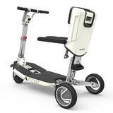 Moving Life ATTO Folding Electric Mobility Scooter Lightweight Lithium 4mph White