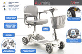 Alumina 4mph Ultra Lightweight Aluminium Frame Lithium Mobility Boot Scooter from Motion Healthcare