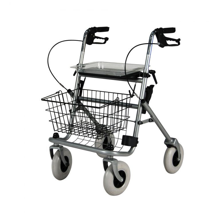 Safety Walker 4 Wheel Rollator with Seat and Removable Basket