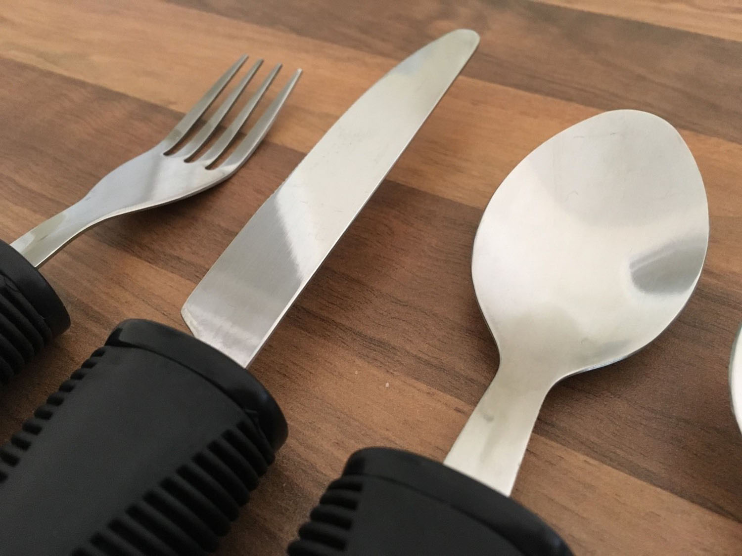 Disabled Cutlery Set Easy Grip Large Rubber Handle Handled Knife Fork Spoon