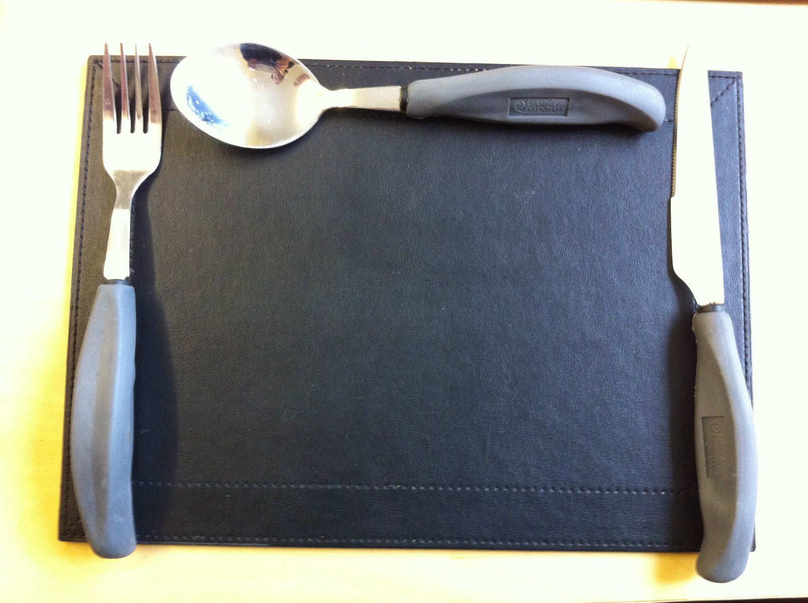 Disabled Cutlery Set Easy Grip Large Handle Knife Fork Spoon Lifestyle Essential Eating Utensil