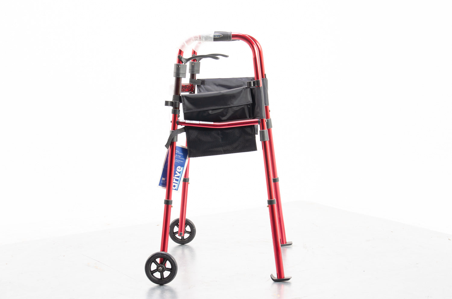 Ready Set Go Deluxe Folding Walker with Carry Bag Mobility Frame 2 Wheels